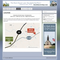 RockChurch-Gap.com - website and graphic art