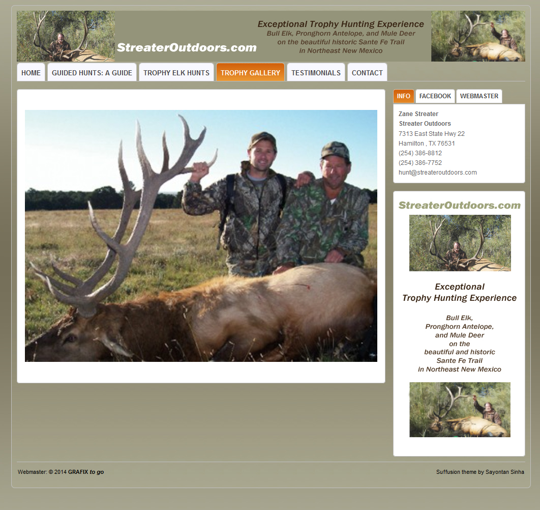 StreaterOutdoors.com - website