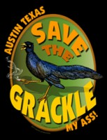 Save the Grackle - advertising design